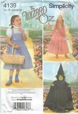 Simplicity 4139 The Wizard of Oz Girls' Costumes uncut
