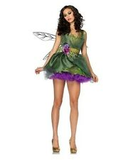 Women's Green Woodland Pixie Costume Halloween Party Cosplay Fairy Fancy Dress