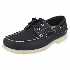 SALE MENS CLARKS NAVY LEATHER LACE UP CASUAL BOAT DECK SHOES SIZE RIVER RUSH