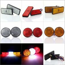 2x Red/White/Yellow Auto Truck Universal Rear Braking/Running/Stop Lamp Tail Led
