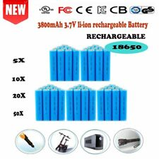 2/50X 3800mAh 18650 rechargeable battery Li-ion 3.7V for LED Torch Flashlights Y