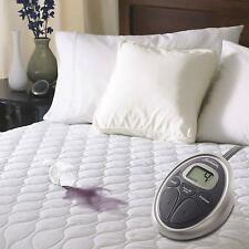 Sunbeam Water Resistant Heated Mattress Pad with 20 Heat Settings Timer,...