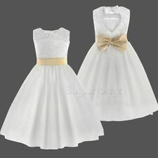 Flower Girl Dress Party Pageant Princess Formal Wedding Bridesmaid Wedding Dress