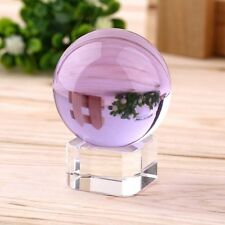 Asian Natural Quartz Purple Magic Crystal Healing Ball Sphere 40mm or Stand SY