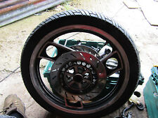 Yamaha RD 350 ypvs 31k front wheel, discs and tyre  (a)