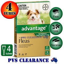 Advantage Green 4 for Puppies & Small Dogs Up To 4 kg -  4 Pack - Puppy Flea