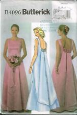 Butterick 4096 Sewing Pattern Ladies Wedding Bridal Gowm Dress w Train  uncut