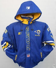 RAMS 2 IN 1 VINTAGE STARTER NFL ST LOUIS RAMS JACKET OR LOS ANGELES RAMS VEST