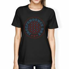 Independence Day American Flag Shirt Womens Black 4th Of July Tee