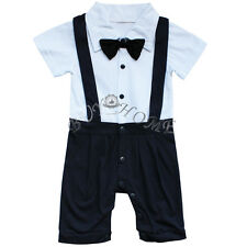 Newborn Infant Kids Baby Boy Romper Bodysuit Jumpsuit Clothes Gentlemen Outfits