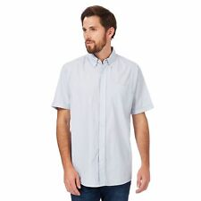 Maine New England Mens Blue Textured Short Sleeve Shirt From Debenhams