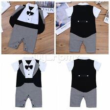 2PC Newborn Toddler Baby Kid Boys T-shirt Tops+Pants Outfits Clothes Romper Set