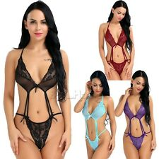 Women's Sexy Lingerie Babydoll Sleepwear Underwear Lace Dress G-string Bra&Panty