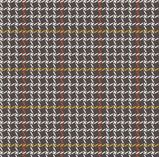 Brown Yellow Red Plaid Buffalo Check Mod Fabric Printed by Spoonflower BTY