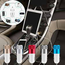 Car Charger Adaptor Bullet USB 2 Port for iPod iPhone 4 5 C S Samsung HTC