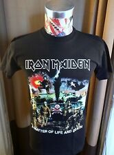 BRAND NEW IRON MAIDEN WAR SKELETON TANK A MATTER OF LIFE AND DEATH BLACK T SHIRT