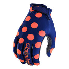 Troy Lee Designs Air Off-Road Air Gloves - Polka Dot Navy/Orange - Youth Sizes