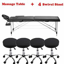 "84"" Portable Tattoo Parlor Spa Salon Facial Bed Beauty Massage Table Chair LOT4"