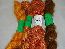 Handspun Angora Yarn Hand dyed 100% Angora Rabbit Yarn 50 to 100 worsted