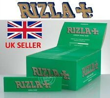 100% GENUINE RIZLA Green King Size Rolling Papers Smoking Accessories UK SELLER