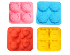 4-Cartoon Cake Mold Soap Mold Silicone Mould for Candy Chocolate Cookie Craft