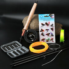 Fly Fishing Rod with Reel Lines Flies Combo Kit for Saltwater Freshwater Fly Kit