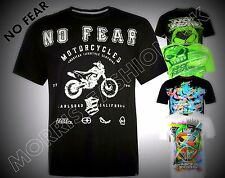 Mens NEW  No Fear Casual Short Sleeves Moto Graphic T Shirt Top Size M-XXXL