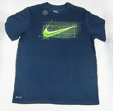 NWT Mens Nike Graphic Tee Swoosh Innovation Specs Athletic Cut T-Shirt Blue L-XL
