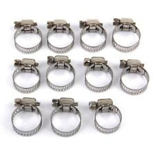 10PCS Adjustable Fuel Petrol Pipe Hose Clips Stainless Spring Clamp 8mm-76mm