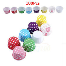 Home Cake Baking Paper Cup Cupcake Liners Muffin Case Christmas Party 100Pcs MF