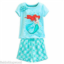 NWT Disney Store THE LITTLE MERMAID Ariel Pajamas Pjs SET Sz 4 7 8