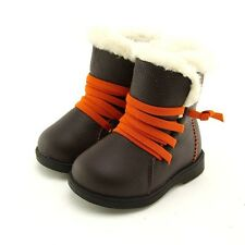 """Freycoo """"Billy"""" Brown Leather Boots Boys Toddler"""