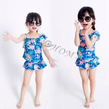 Floral Kids Baby Girls Tankini Bikini Swimwear Swimsuit Bathing Suit Beachwear!