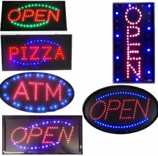 BRIGHT Oval LED Open ATM Pizza Store Restaurant Business Light Sign neon switch