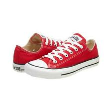 NEW Ladies Mens Converse All Star Ox CT Low Red Trainers UK Size 3 4 5 6 7 8 9
