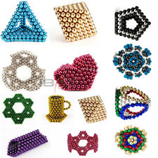 216Pcs 5mm Magnet Balls Magic Beads 3D Puzzle Ball Sphere Magnetic Kids Toy