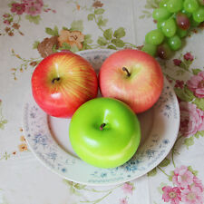 Decorative Plastic Green Yellow Apples Large Artificial Pear Fake Fruit