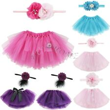 Cute Newborn Toddler Baby Girl Tutu Skirt + Headband Photo Prop Costume Outfit !