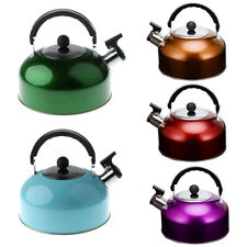3L Whistling Tea Kettle Hot Water Pot for Camping Fishing Caravan Gas Electric