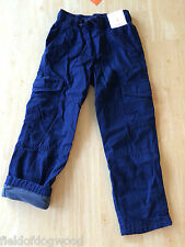 NWT Gymboree Boys Pull on Navy JERSEY lined Athletic Pants 6 Ski Patrol