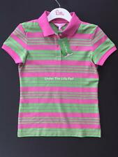 NWT Lilly Pulitzer Stripe SHRUNKEN POLO Sz X-SMALL 0 2 XS Pink Shirt Golf New
