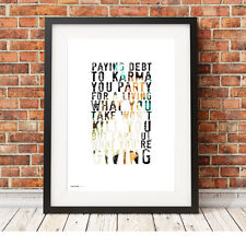 DEPECHE MODE ❤ Dream On  ❤ song lyric poster art Typography Print - 5 sizes #1