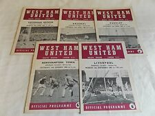 WEST HAM UNITED 1965/1966  HOME PROGRAMMES