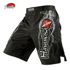 SUOTF MMA Black White Breathable Fitness Exercise Shorts Tiger Muay Thai Boxing