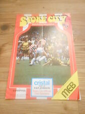 Stoke City Programmes late 80's early 90s