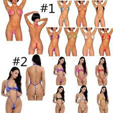 Women's One Piece Swimsuit Padded Bikini Swimwear Bathing Monokini Halter Bikini