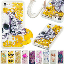 Skull Design Bling Sequins Quicksand Soft TPU Phone Case For iPhone 6 6S 7 Plus
