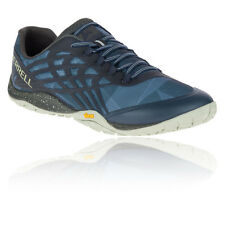Merrell Trail Glove 4 Mens Blue Running Road Sports Shoes Trainers Pumps