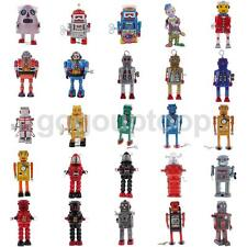 25 Types Vintage Wind Up Robot Mechanical Clockwork Tin Toy Gift Collectibles