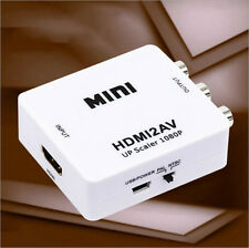 Mini HD 1080P HDMI Video Converter Box HDMI to Video Output HDMI TO AV Adapter
